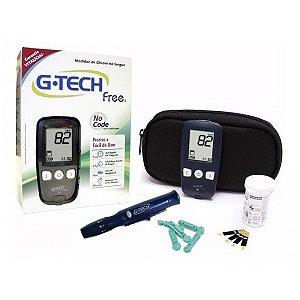 Kit Aparelho De Glicose Glicemia Gtech Free No Cod 60 Tiras