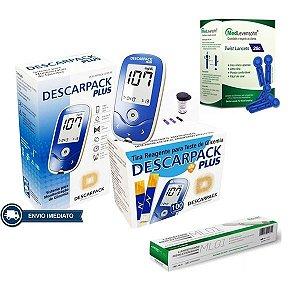 Kit Aparelho Monitor Glicemia + Brinde Lancetas Lancetador