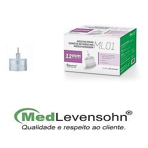 Agulha Para Caneta De Insulina 12mm 100Un - Medlevensohn