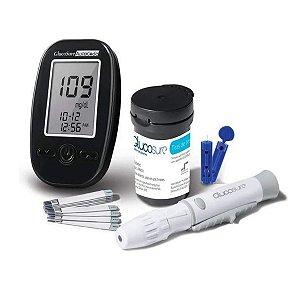 Kit Monitor De Glicemia Multilaser Glucosure Preto Hc129