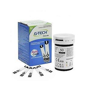 250 Tiras Reagentes G-tech Lite Teste De Glicemia