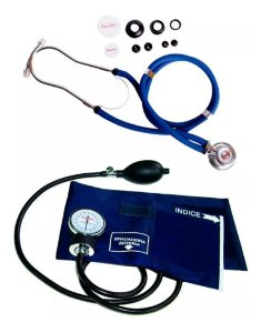Esfigmomanômetro E Estetoscópio Premium Rappaport - Azul