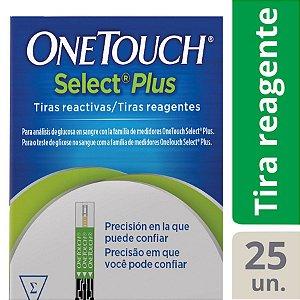 Tiras Reagentes Glicemia One Touch Select Plus - 25un