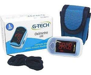 Oximetro De Dedo Pulso Oxigenio Led Completo - G-tech