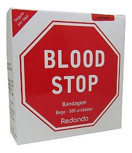 Curativo Redondo Bandagem Blood Stop Bege 500 Unidades