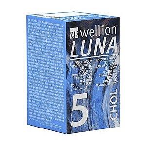 Tiras Teste Colesterol P/ Monitor Luna Duo Wellion 05und