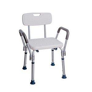 Cadeira De Banho Retangular Com Encosto E Braço Dellamed D3