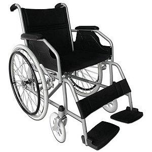 Cadeira De Rodas Adulto Em Aço Dobrável Dellamed D100