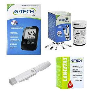 Aparelho De Glicemia G-tech 50 Tiras 50 Lancetas - Brinde
