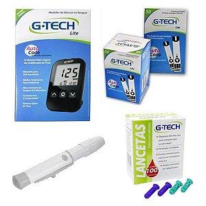 Aparelho De Glicemia G-tech 100 Tiras 100 Lancetas - Brinde