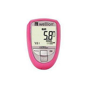 Wellion Luna Duo Monitor De Colesterol E Glicemia Rosa