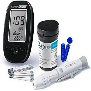 Kit Monitor De Glicemia Glucosure 35 Tiras 35 Lancetas Hc129