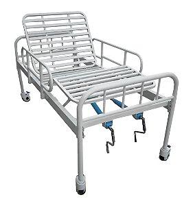 Aluguel - Cama Hospitalar Manual com Dois Movimentos e Grade de Proteção DX Dellamed