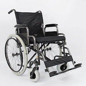 Cadeira De Rodas Adulto Em Aço Dobrável D400 T46 Dellamed