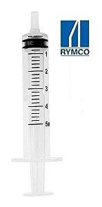 Seringa Esteril Hipodermica 5ml Bico Luer Slip Rymco - 50 Un