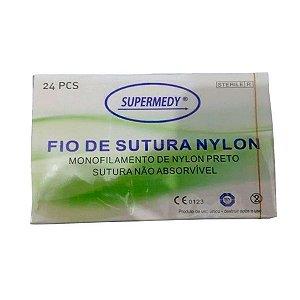 Fio De Sutura Nylon - 4-0 45cm 3/8 Circulo Supermedy CX C/24 Unidades