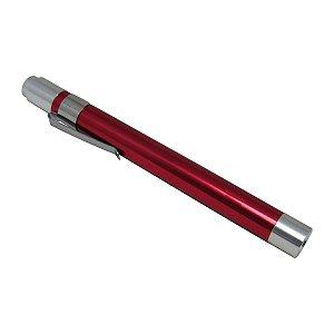Lanterna Clínica Caneta de Bolso Led Alumínio AK - Vermelha