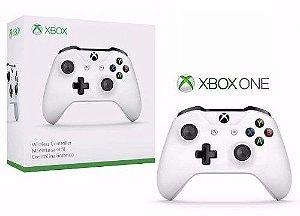 Controle Xbox One S Bluetooth Sem Fio Conector P2 branco - Microsoft