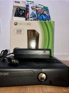 Xbox 360 modelo slim (Destravado) semi novo