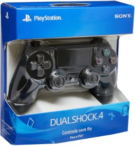 CONTROLE DUAL SHOCK 4 BLACK - PS4 - SONY