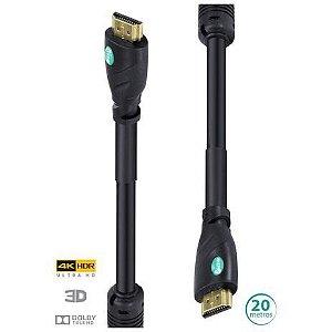 CABO HDMI 2.0 4K C/ FILTRO 20M H20F-20