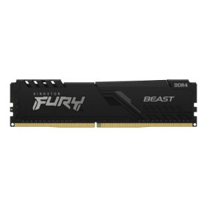 Memória Ram Kingston Fury Beast 8gb 2666Mhz Ddr4 CL6 Preto - KF426C16BB8