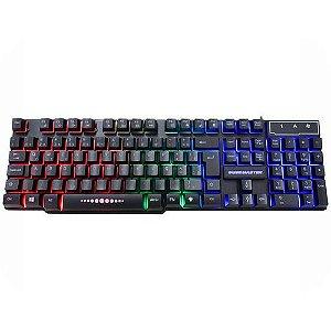 Teclado Gamer KM-5228 RGB Rainbow Anti-ghost,teclas iluminad