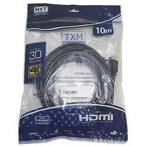 CABO HDMI 4K ULTRA HD 2.0 COM FILTRO 10MTRS DOURADO IMPORTADO