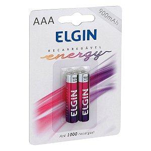 PILHA RECARREGAVEL AAA 900MAH C/2 82168 - ELGIN