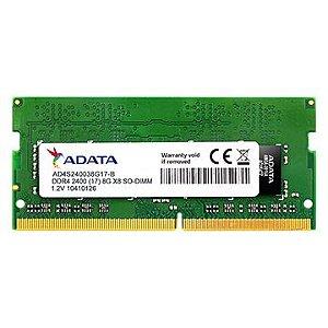 MEMORIA PARA NOTEBOOK ADATA 8GB DDR4 2400MHZ AD4S240038G17S