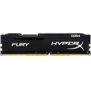 MEMORIA 8GB DDR4 2400MHZ 1.2V HYPERX FURY PRETA - DESKTOP - HX424C15FB3/8