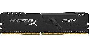 MEMORIA HYPERX FURY, 4GB, 2400MHZ, DDR4, CL15, PRETO - HX424C15FB/4