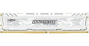 MEMORIA CRUCIAL BALLISTIX SPORT LT, 8GB, 2400MHZ, DDR4, CL16, BRANCO - BLS8G4D240FSCK