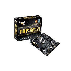 Placa Mãe ASUS p/ Intel LGA 1151 mATX TUF B360M-PLUS GAMING/BR, DDR4