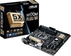 Placa Mae Asus Intel 1151 DDR4 Micro ATX  (H170M-PLUS/BR-90MB0QQ0-C1BAY0)
