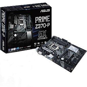 Placa Mae Asus  Intel 1151 DDR4 ATX  (PRIME Z370-P-90MB0VH0-M0EAY0)