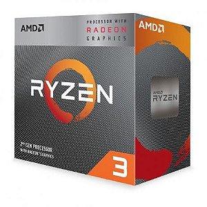PROCESSADOR AMD RYZEN R3 2200G 3.7GHZ AM4 6MB CACHE