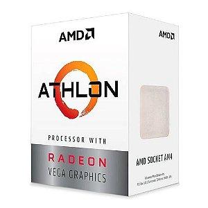 Processador AMD Athlon 3000G 3.5Ghz AM4 Radeon Vega 3 35W PN # YD3000C6FHBOX