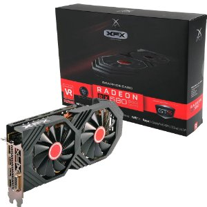 PLACA DE VIDEO AMD RX 580 8GB OC+ GTS XXX EDITION DDR5 1386MHZ XFX RX-580P8DFD6