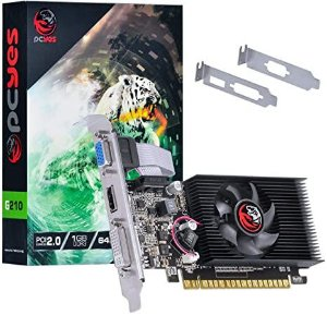 PLACA DE VIDEO NVIDIA GEFORCE G 210 1GB DDR3 64 BITS COM KIT LOW PROFILE INCLUSO - PA210G6401D3LP - PCYES