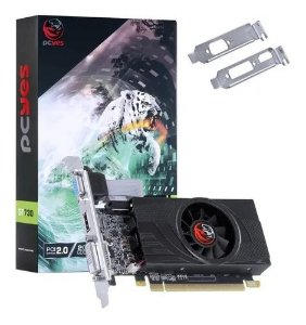 PLACA DE VIDEO NVIDIA GEFORCE GT 730 GDDR5 2GB 64BIT SINGLE FAN - LOW PROFILE - PA730GT6402D5LP - PCYES