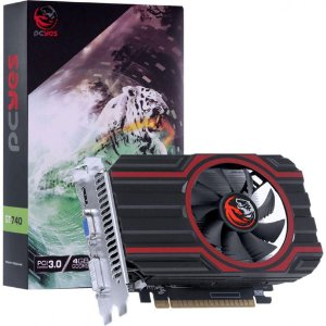PLACA DE VIDEO NVIDIA GEFORCE GT 740 GDD5 4GB 128BIT SINGLE FAN - FULL SIZE - PA740GT12804D5FZ - PCYES