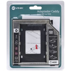 ADAPTADOR CADDY PARA HD OU SSD GAVETA DVD NOTEBOOK AC-127