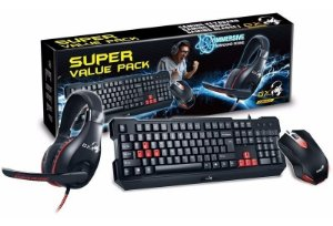 KIT TECLADO E MOUSE GENIUS KIT TECLADO E MOUSE COM HEADSET GAMER KMH-200