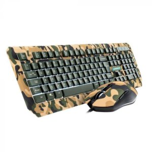 WARRIOR KYLER COMBO TECLADO E MOUSE GAMER ARMY