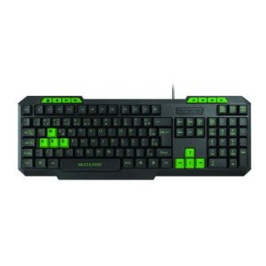 TECLADO GAMER MULTIMIDIA SLIM VERDE