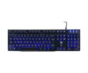 TECLADO USB GAMER VX GAMING HYDRA 107 TECLAS + 12 MULTIMÍDIA COM BACKLIGHT EM 03 CORES SENSACAO TECLA MECANICA - VINIK
