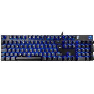 TECLADO GAMER USB MECANICO GK400F LED PRETO