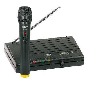 MICROFONE SEM FIO DE MAO VHF695
