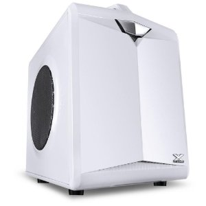 GABINETE VX GAMING CUBE COM ALCA - MICRO ATX/MINI ITX, CUBO, 01 FAN 80MM SEM LED BRANCO - CB1FBC - VINIK